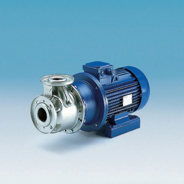 Lowara SH Series of end suction close coupled pumps in 316 stainless steel